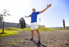 Young man exercising outdoor Stock Images