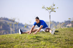Young man exercising outdoor Stock Photo