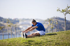 Young man exercising outdoor Stock Image