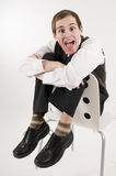 Young man exuberant Royalty Free Stock Image