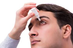 The young man in eye care medical concept Royalty Free Stock Photography