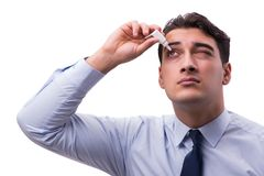 The young man in eye care medical concept Royalty Free Stock Images