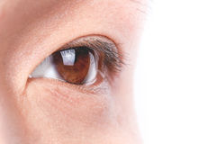 Young man eye Stock Photos