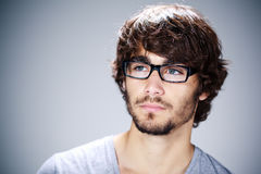Young man with eyeglasses Stock Image