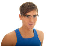 Young man in eyeglasses Stock Photography