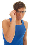 Young man in eyeglasses Royalty Free Stock Image