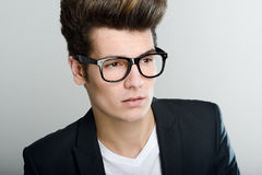 Young man with eyeglasses Royalty Free Stock Photography