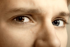 Young man eyes Royalty Free Stock Photos