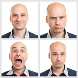 Young man face expressions Stock Photography
