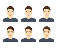 Young man face expressions composite Royalty Free Stock Photography