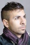 Young man face portrait Stock Photo