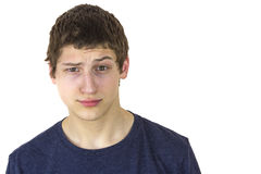 Young man with facial expression Stock Image