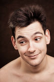 Young man facial expression Royalty Free Stock Image