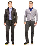 The young man in fashion concept isolated on white Stock Photography