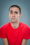 Young Man with Fear Expression Royalty Free Stock Images