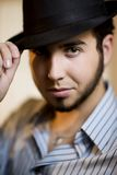 Young Man in a Fedora Stock Image