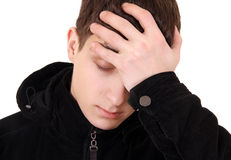 Young Man feel Headache Stock Photos