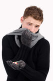 Sick, ill, cold Stock Photo