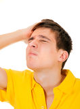 Young Man feels Headache Stock Image