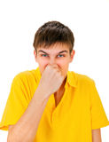 Young Man feels a Stink Royalty Free Stock Images