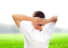 Young Man in the Field Royalty Free Stock Images