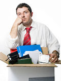 Young Man Fired from Job Royalty Free Stock Photo