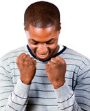 Young man with fists Clenched Royalty Free Stock Photos