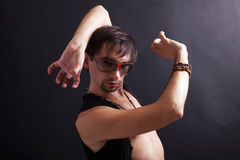 Young man flamenco dancer wearing sunglasses Stock Photography