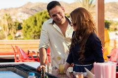 Young man flirting with a girl Royalty Free Stock Images
