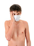 Young Man in Flu Mask Royalty Free Stock Images