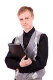 Young man with a folder Stock Photos