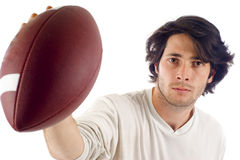 Young Man with Football Royalty Free Stock Image