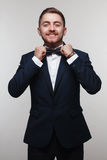 Young man in formal attire Stock Photography