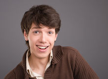Young man friendly smililing Royalty Free Stock Photography