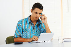 Young man with frustrated expression Stock Photo