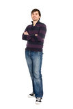 Young man in full length. Portrait of young man in full length isolated on white background royalty free stock images