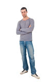 Young man full length portrait Royalty Free Stock Image