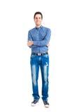 Young man full length portrait Stock Photos