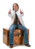 Young man in fur coat Stock Image