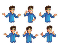 Young Man Gestures Stock Photography