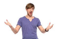 Young man gesturing Stock Photography