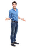 Young man gesturing Royalty Free Stock Photo