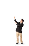 Young man gesturing with copy space Royalty Free Stock Photography