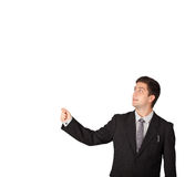 Young man gesturing with copy space Royalty Free Stock Photos