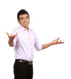 Young Man Gesturing Do Not Know Sign Stock Images