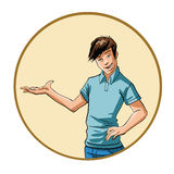 Young man gesturing Royalty Free Stock Image