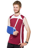 Young man get injury Stock Photo