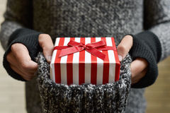 Young man with a gift Stock Photos