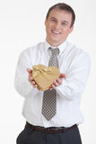 Young Man With A Gift Royalty Free Stock Photo
