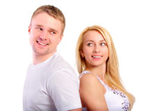 Young man and girl Royalty Free Stock Photography
